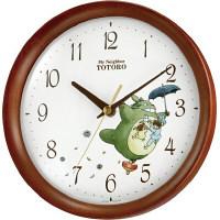 リズム時計(RHYTHM) トトロM27 [クオーツ 掛け 時計] (茶色半艶仕上) 8MGA27RH06 1個 (直送品)