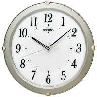 SEIKO(セイコークロック) 電波掛け時計 シルバー KX211S 1個 (直送品)