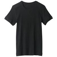 BODYWILD(ボディワイルド) クルーネックリブTシャツ M ブラック GUNZE(グンゼ)