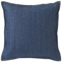綿デニムクッションカバー/ブルー 37130494 無印良品