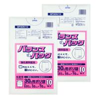 オルディ バランスパック ごみ袋 30L 半透明 1パック(10枚入) BP30N10 1セット(2パック入)
