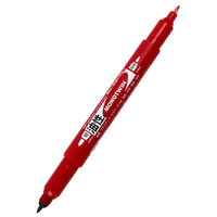 トンボ鉛筆【MONO】油性ツインマーカー 極細モノツインE 赤 1本