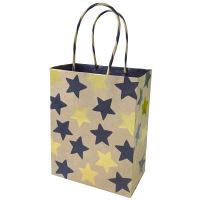 クラフトギフトバッグ M(ギフトシール付き) star 金 1枚