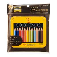 トンボ鉛筆 ミニ色鉛筆 12色セット 削り器付き BCA-151