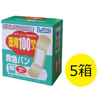 エルモ救急バン M 100枚入 1セット(5箱) 日進医療器