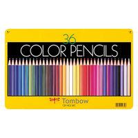 トンボ鉛筆 缶入り色鉛筆 36色セット CB-NQ36C