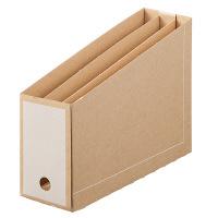 ボックスファイル仕切り付 A4 15冊 ダンボール製 ホワイト アスクル