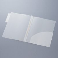 ハピラ カルテフォルダー A4タテ置き 乳白 ダブル見開き(ファスナー) KHTF50 1パック(50枚入)