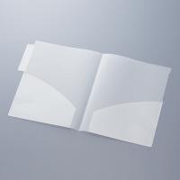 ハピラ カルテフォルダー(ダブルポケット) A4タテ置き 乳白 見開き KHTW50 1パック(50枚入)