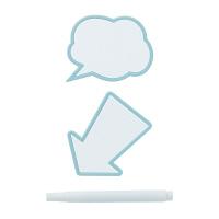 メッセージクリップ2P ライトブルー MCL-0011 1パック ライクイット