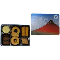 泉屋 オリジナルクッキーズ 赤富士缶 1箱 伊勢丹の贈り物