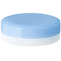金鵄製作所 アルファ軟膏壺(増量型軟膏容器) 6mL スカイブルー 1袋(50個入)