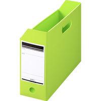 ボックスファイル組み立て式 A4ヨコ PP製 グリーン セリオ