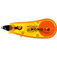 トンボ鉛筆【MONO】修正テープ 使いきりタイプ モノCC5C 5mm×6m オレンジ CT-CC5C50 5個 (直送品)