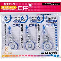 トンボ鉛筆【MONO】修正テープ 使いきりタイプ モノCF6 6mm×8m KCA-324 3個入×2パック (直送品)