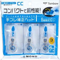 トンボ鉛筆【MONO】修正テープ 使いきりタイプ モノCC6 6mm×6m KCB-327 3個入×2パック (直送品)
