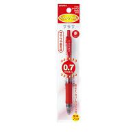 ゼブラ ジェルインク(水性) ノック式 サラサ 0.7mm 赤軸 赤インク P-JJB3-R 1セット(10本入り)(直送品)