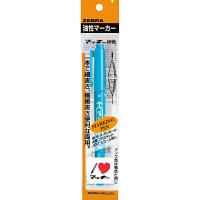 マッキー 細字/極細 ライトブルー 油性ペン P-MO-120-MC-LB 9本 ゼブラ (直送品)