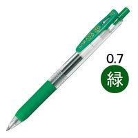 ゲルインクボールペン サラサクリップ 0.7mm 緑 10本 JJB15-G ゼブラ