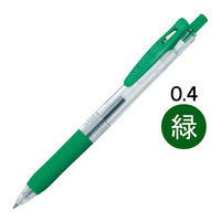 ゲルインクボールペン サラサクリップ 0.4mm 緑 10本 JJS15-G ゼブラ