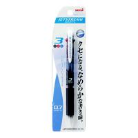 三菱鉛筆uni ジェットストリーム ボールペン 黒軸 3色 0.7mm SXE3-400-07 3本(直送品)