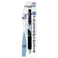 三菱鉛筆uni ジェットストリーム ボールペン 透明軸 3色 1.0mm SXE3-400-10 3本 (直送品)