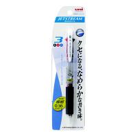 三菱鉛筆uni ジェットストリーム ボールペン 透明軸 3色 0.38mm SXE3-400-38 3本(直送品)
