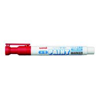 三菱鉛筆(uni) 水性ペイントマーカー 中字 赤 水性マーカー PXW2005M 5本 (直送品)
