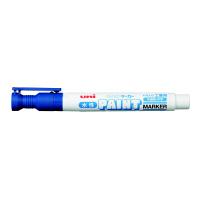三菱鉛筆(uni) 水性ペイントマーカー 中字 青 水性マーカー PXW2005M 5本 (直送品)
