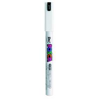 ポスカ 極細 ホワイト PC1MD.1 水性マーカー 5本 三菱鉛筆uni (直送品)