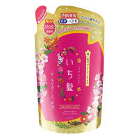 いち髪 ふんわりボリュームケア コンディショナー 爽やかなザクロと心なごむ桜の香り 詰め替え用 340g クラシエホームプロダクツ