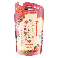 いち髪 濃密W保湿ケア シャンプー ほろ甘いあんずと上品な桜の香り 詰め替え用 340ml クラシエホームプロダクツ