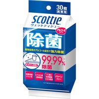 ウエットティッシュ スコッティウェットティシュー除菌アルコール 1個(30枚入) 日本製紙クレシア