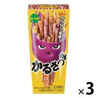 江崎グリコ かるさつま 紫いも味 3個