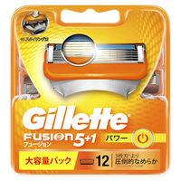 ジレット フュージョン5+1 パワー 専用替刃 12個入 髭剃り 替刃 P&G