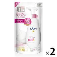 ダヴ(Dove) クリアリニュー クリーミー泡洗顔料 つめかえ用 140ml 2個セット ユニリーバ