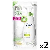 ダヴ(Dove) ディープピュア クリーミー泡洗顔料 つめかえ用 140ml 2個セット ユニリーバ