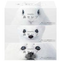 ティッシュペーパー【保湿】【200組3箱】鼻セレブティシュ 王子ネピア