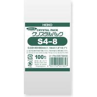 シモジマ クリスタルパック S4-8 100枚入 S4-8 6739400 1束