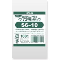 HEIKO シモジマ クリスタルパック S6-10 100枚入 S6-10 6750700 1袋(100枚入)