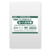 HEIKO シモジマ クリスタルパック Sはがき用 100枚入 Sはがき用 6751700 1袋(100枚入)