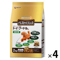 愛犬元気 ベストバランス ドッグフード トイ・プードル用 チキン・緑黄色野菜・玄米入り 2kg 1ケース(4袋) ユニ・チャーム