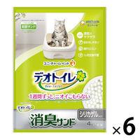 1週間消臭・抗菌デオトイレ 消臭サンド 4L 1ケース(6袋) ユニ・チャーム