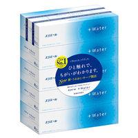 ティッシュペーパー【保湿】【180組5箱】エリエール+Water 大王製紙