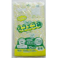 野添産業 スゴエコ袋 90L 透明 厚さ25μ 3S2519025 1袋(10枚入)