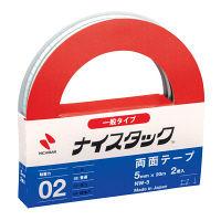 ニチバン ナイスタック(R) 紙両面テープ 幅5mm×20m NW-5 1ホルダー(2巻入)
