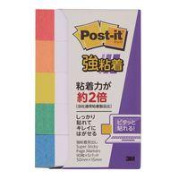 【強粘着】ポストイット 付箋 ふせん 見出し 50×15mm 色帯5色セット 1セット(15冊入) スリーエム 700SS-R