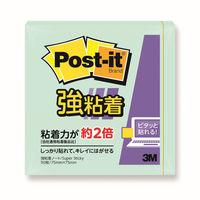 【強粘着】ポストイット 付箋 ふせん ノート 75×75mm アップルグリーン 1セット(3冊入) スリーエム 654SS-AG