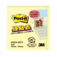 スリーエム ポストイットエコノパック強粘着ノートパステル 50×50mm、90枚 650SS-RPY 4個 (直送品)