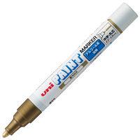三菱鉛筆 三菱アルコールペイントマーカー 油性中字丸芯 金 PXA200.25 5本 (直送品)